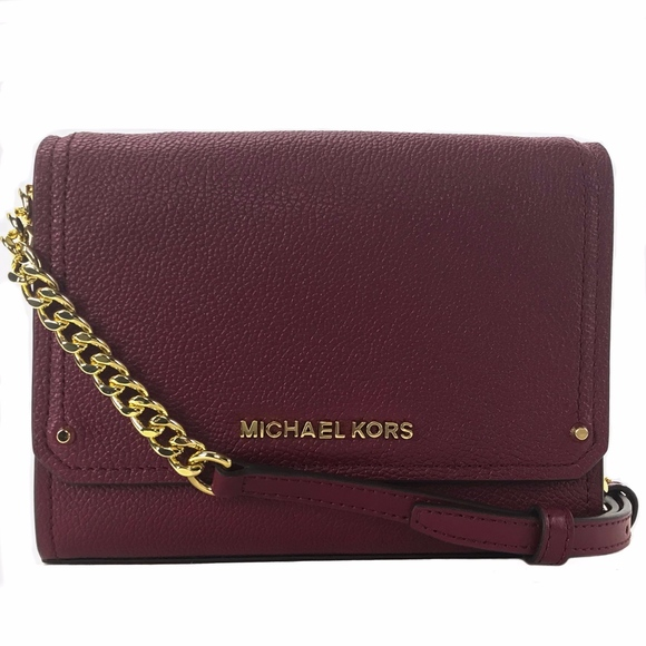 566958ed8b9a MICHAEL KORS Hayes Small Leather Convertible Bag. NWT